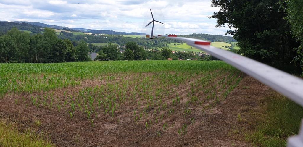 Windrad Thüringer Wald